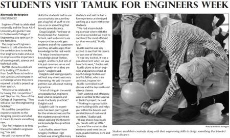 TAMUK Engineers Week
